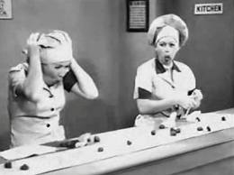 I love Lucy candy factory