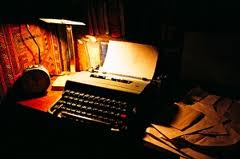 typewriter glowing