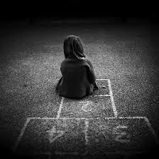 lonely little hop scotch girl