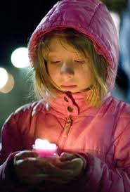 prayer boston candle little girl