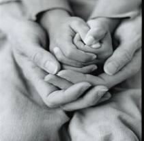 praying family of hands