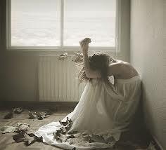 floor crying girl