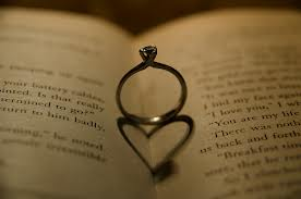 heart ring in pages