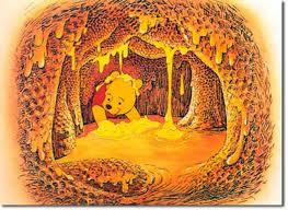 winnie the pooh in the honey hive